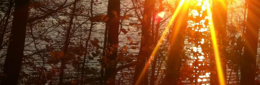Sunset on winter st