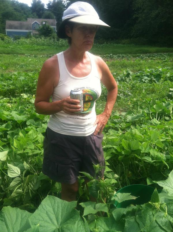 Thigh deep in cucumbers